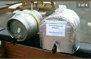 Insulated 9 Gallon Cask cover Jacket & 1 Ice Sheet  Firkin Cover, Cask Cooling