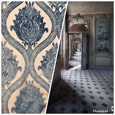 NEW Designer Belgium Burnout Damask Chenille Velvet On Linen Fabric Upholstery
