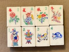 Vintage Chinese Mah Jong Set Not Used Still Has Tissue Between Layers & Book
