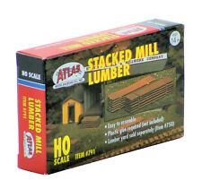 Atlas HO Scale Scenery Kit - Stacked Mill Lumber