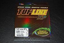 TUF-Line XP White 15 lb Test 300 yard Multifilament Braid Fishing Line XP15-300W