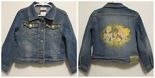 Disney Store Studio Collection Blue Denim Jacket Girls XS (4) Princess Cinderell