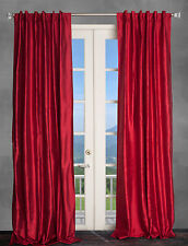 100% Dupioni Silk Drapes, Burgundy Red 50X108 window treatments, 2 Panels. NEW!