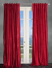 100% Dupioni Silk Drapes, Burgundy Red 50X96 curtains, 2 Panels. NEW!