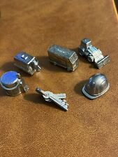 Lot of 6 Monopoly City Tokens Pawns Player Replacement Game Pieces