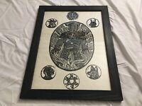 "Creepy Burning Man, Occult, Pagan, Wicker Man, Wicca, Framed Art Print, 14""X19"""