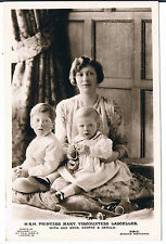 BEAGLES POSTCARD HRH MARY VISCOUNTESS LASCELLES AND HER SONS C1920'S RP