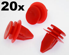 20x Mini Red Plastic Trim Clips for Sideskirts, Sill Mouldings, Bodykits