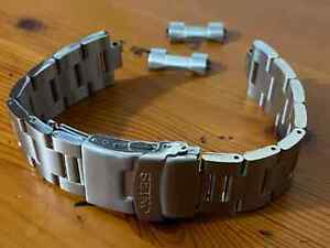 22MM Seiko CURVE Lugs SEIKO OYSTER Stainless Steel Mens Watch Strap Band