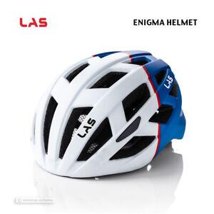NEW 2021 LAS ENIGMA Road/MTB Cycling Helmet : MATTE WHITE/BLUE