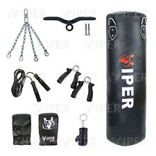 Viper 3ft Heavy Filled Boxing Punch Bag Set Mitts Bracket Chain Junior Adult