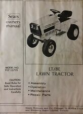 Sears Craftsman LT/8E Lawn Yard Riding Tractor Owner & Parts Manual 917.25770