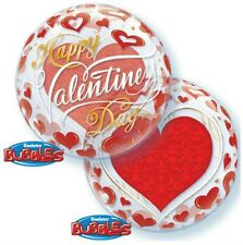 Party Supplies Love Valentines Day  Red Hearts Bubble Balloon 56cm