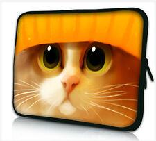 "15 "" -15.6"" Laptop Manga llevar Funda Bolsa Para Dell Hp Compaq Apple * Naranja Gato *"