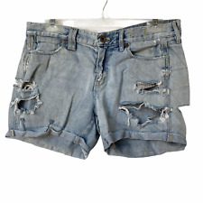 Madewell Jean Shorts Distressed Destroyed Light Blue Wash Women's Waist Size 29