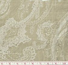 P Kaufmann Heathcliff Linen Beige Woven Floral Paisley Home Decor Fabric BTY