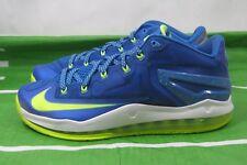 Nike Air Max Lebron Xi Bajo Sprite Hiper Cobalto Volt Azul 642849 471 TALLA 11.5