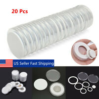 20pcs Round Coin Capsules Holders Storage Case Portable Container Display
