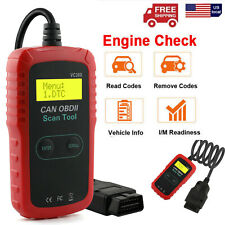 Car Auto Code Reader OBD2 CAN Vehicle Tester Engine Diagnostic Scanner Tool I/M