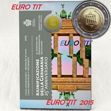 2 €    SAINT MARIN  COMMEMORATIVE  2015   MUR   DE  BERLIN   RARE  /  DISPONIBLE