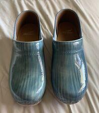 Dansko clogs size 38 Blue Green Metallic Striped Women's 8. NOS Never worn.