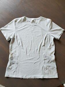 Lululemon  Women's Cross Court Play S/S Shirt White W/light Blue Dots Mesh 10