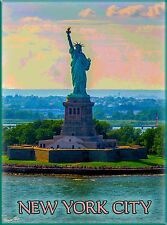 New York City Statue of Liberty United States Travel Advertisement Poster