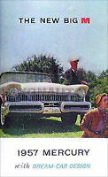 1957 Mercury Owners Manual 57 Monterey Montclair and Wagons Owner Guide Book