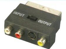 MERCURY TV/AV Adattatore scart SCART 3 X RCA + 4pin S-VHS
