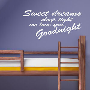 SLEEP TIGHT BEDROOM WALL STICKER ART DECAL QUOTE