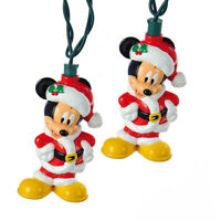 Disney Mickey Mouse Christmas Light Set Kurt Adler 6 Count Light String