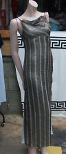 Fabulous Haute Couture 100% Silk Hand-Made Evening 2 Layer Metallic Dress UK 6-8