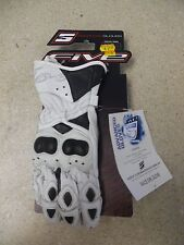 box18 FIVE RACE GIRL GLOVE SIZE SMALL WHITE/BLACK KNUCKLE GUARD/ LEATHER PAD NOS