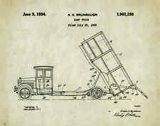 Dump Truck Patent Art Print Poster  Construction Equipment Vintage Parts  PAT236