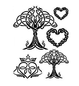 STENCILS CRAFTS TEMPLATES SCRAPBOOKING CELTIC TREE OF LIFE  STENCIL  A4 MYLAR