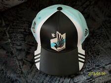 MLS MINNESOTA UNITED ADIDAS SNAPBACK CAP, OSFM - (GUC) BLACK,BLUE AND WHITE