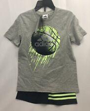 Adidas Boys Youth 2-piece Short Set - Gray Size 6
