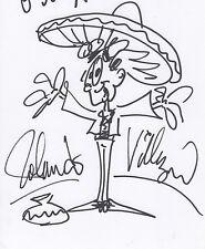 Rolando Villazon Opera Zeichnung mit Autogramm signed A4 Karteikarte