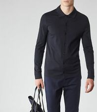 BNWOT Reiss Loud relaxed fit men's navy blue shirt. Size Small. Size S. RRP £80