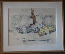 Paul CEZANNE Pochoir Jacomet aquarelle watercolor nature morte *