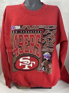 San Francisco 49ers Vintage Logo 7 Superbowl XXIX  1994 Adult Sweatshirt Sz M