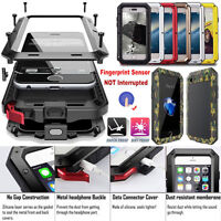 Aluminum Metal Shockproof Waterproof Glass Hard Cover Case for iPhone & Samsung
