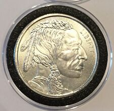 New Indian Head & Buffalo Radial Lines 1 Troy Oz .999 Fine Silver Round Coin 999