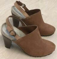 Kenneth Cole Reaction Look Away Studded Booties Sling Back Suede Brown 8.5 M