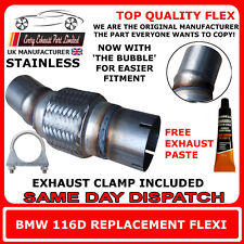 BMW 116D Exhaust Flexi Flex Easy Repair DPF, Cat Pipe, Catalyst Stainless