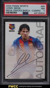 2004 Panini Sports Mega Cracks Barca Campeon Lionel Messi ROOKIE RC #89 PSA 7