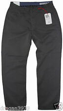 New Ben Sherman Mens Pants Chino Regular Fit in Washed Carbon Colour Size 32/34