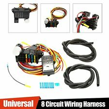 For Muscle Car Hot Rod Street Rod Rat Rod Universal 8 Circuit Wire Harness