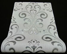 "13308-30) hochwertige Vliestapete ""Ornament"" Tapete modernes Design hellgrau"