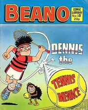 "VINTAGE BEANO COMIC LIBRARY No. 15 - ""DENNIS THE TENNIS MENACE""  (1982)"